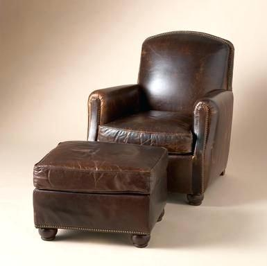 leather chairs with ottoman chair ottoman our tailored leather sumptuous  slouch back club chair combines old . leather chairs with ottoman