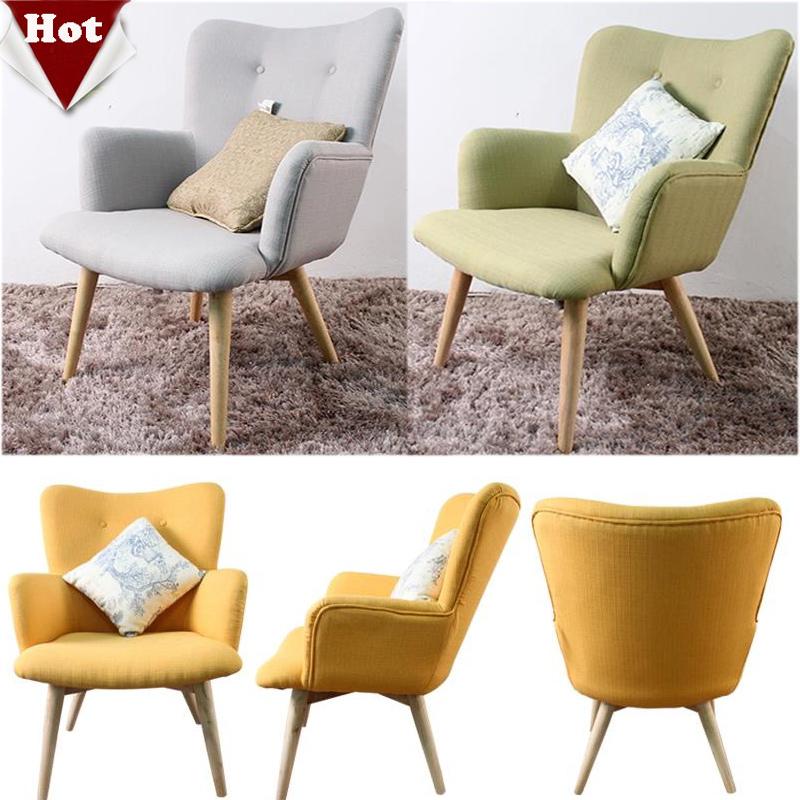 Fashion wood sofa,living room furnture Comfortable chair,cotton fabric  Handmade With armrest sofa set,4 colors