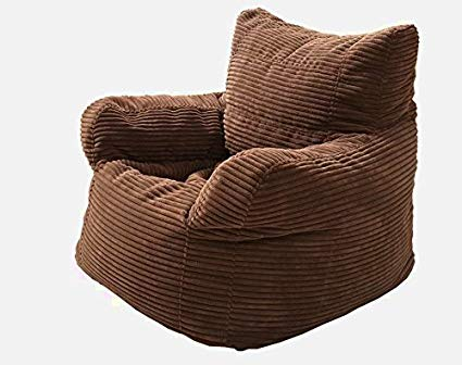 Huge Comfy Chair, Brown Color, Velvet Material, Comfortable Support,  Durable & High