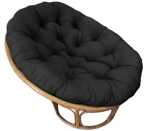 Cotton Craft - Papasan - Black - Overstuffed Chair Cushion - Sink into our  Really Thick