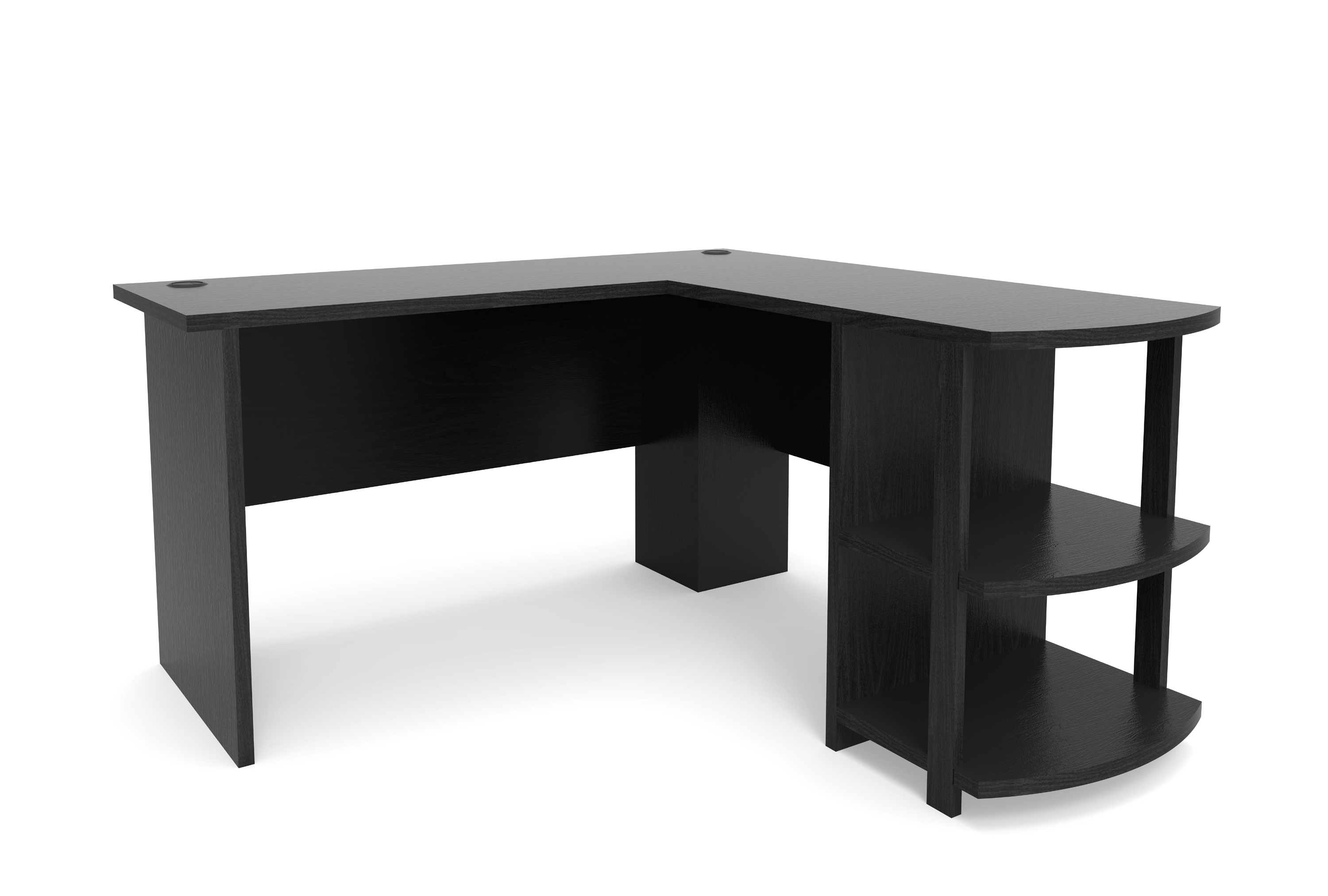 Comfort Products Inc. - Rothmin Computer Desk - Black - Larger Front