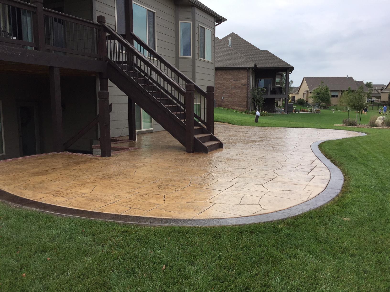 Concrete Patio Wichita   Backyard Ideas
