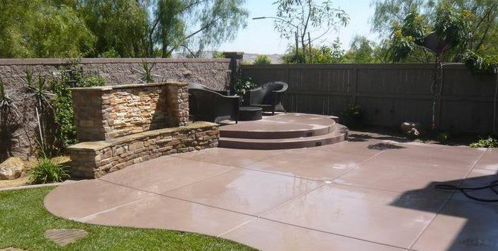 Colored Concrete Quality Living Landscape San Marcos, CA