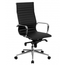 BTOD High Back Leather Conference Chair Available In Black or White