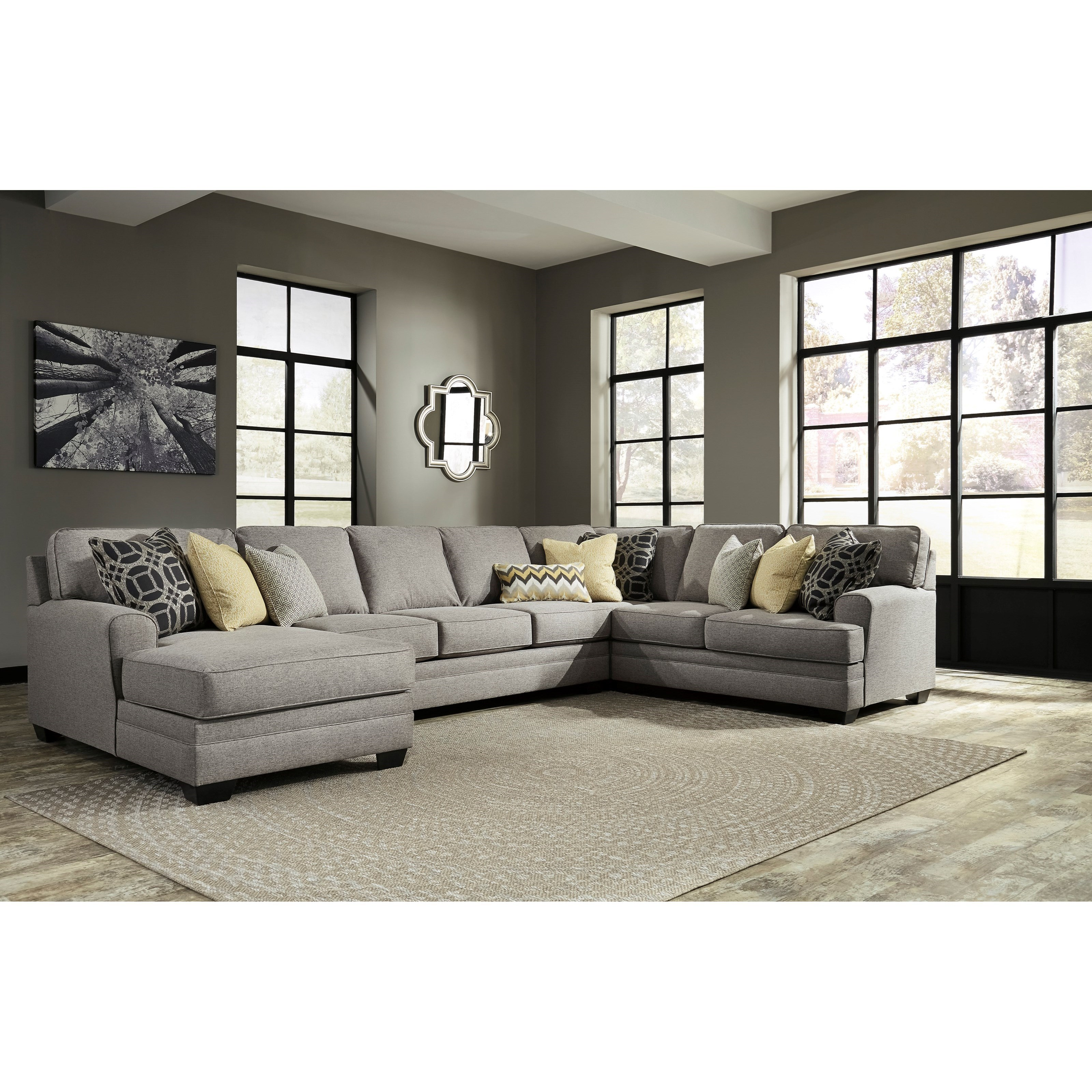 Benchcraft by Ashley Cresson4-Piece Sectional with Chaise & Armless Sofa