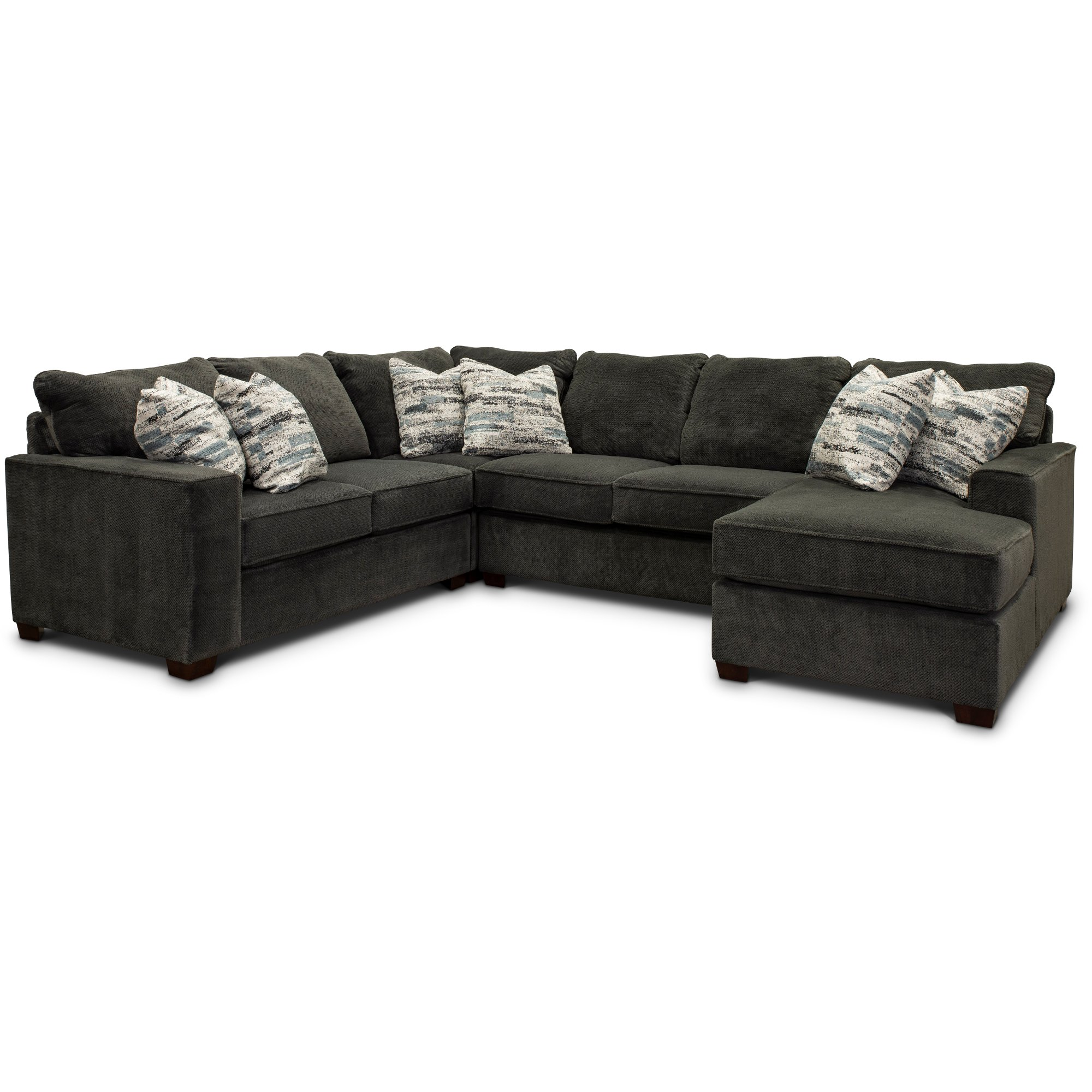 Dark Gray 4 Piece Sectional Sofa with LAF Loveseat - Autumn | RC Willey  Furniture Store