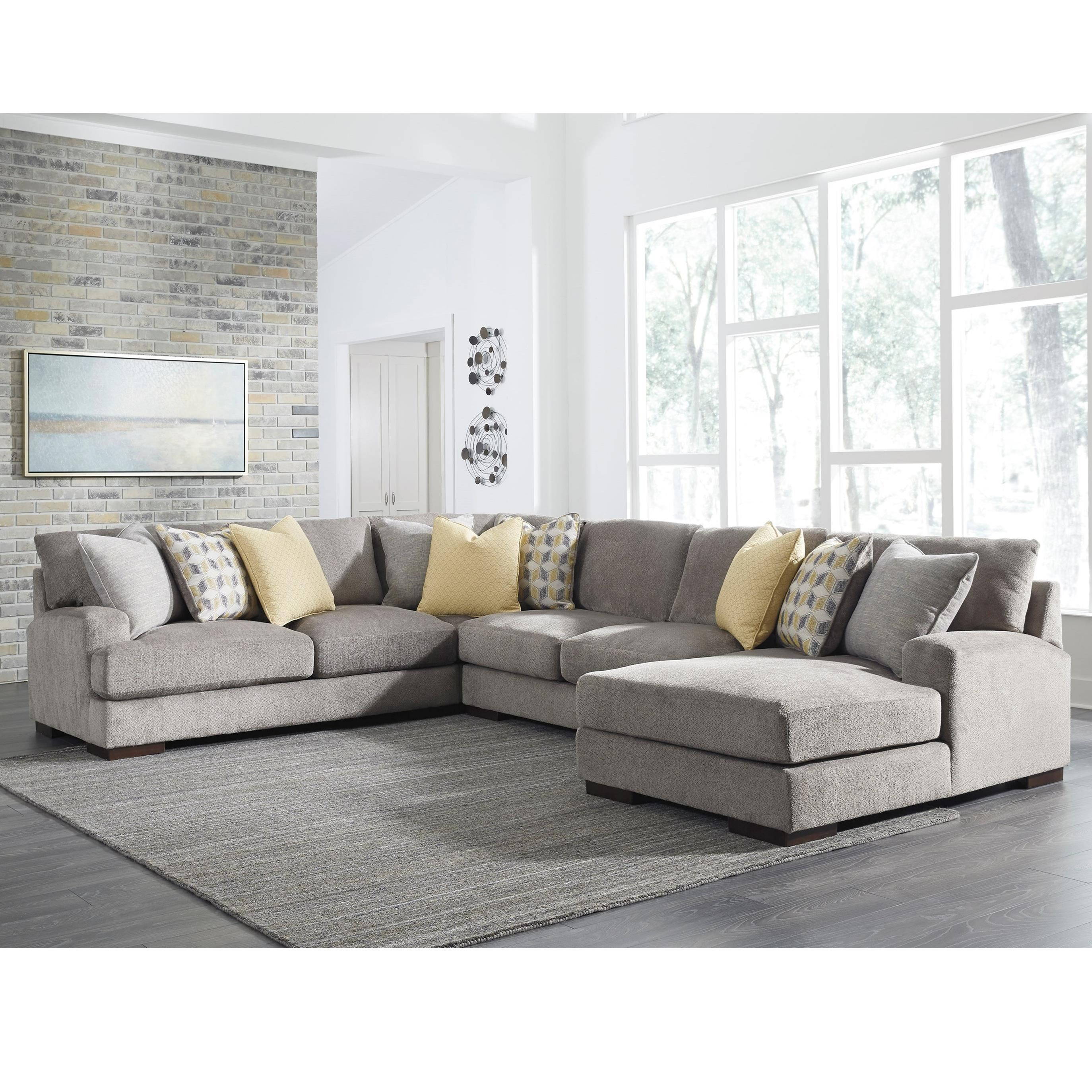 Benchcraft Fallsworth Contemporary 4 Piece Sectional