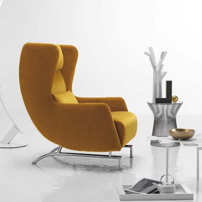 Bonobo Modern Italian Wing Back Armchair