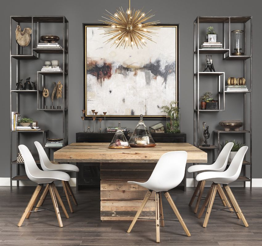 INDUSTRIAL SQUARE DINING TABLE | Lofty Ideal: made of reclaimed and  repurposed pine, the Tahoe Square Dining Table combines rustic charm with  modern design
