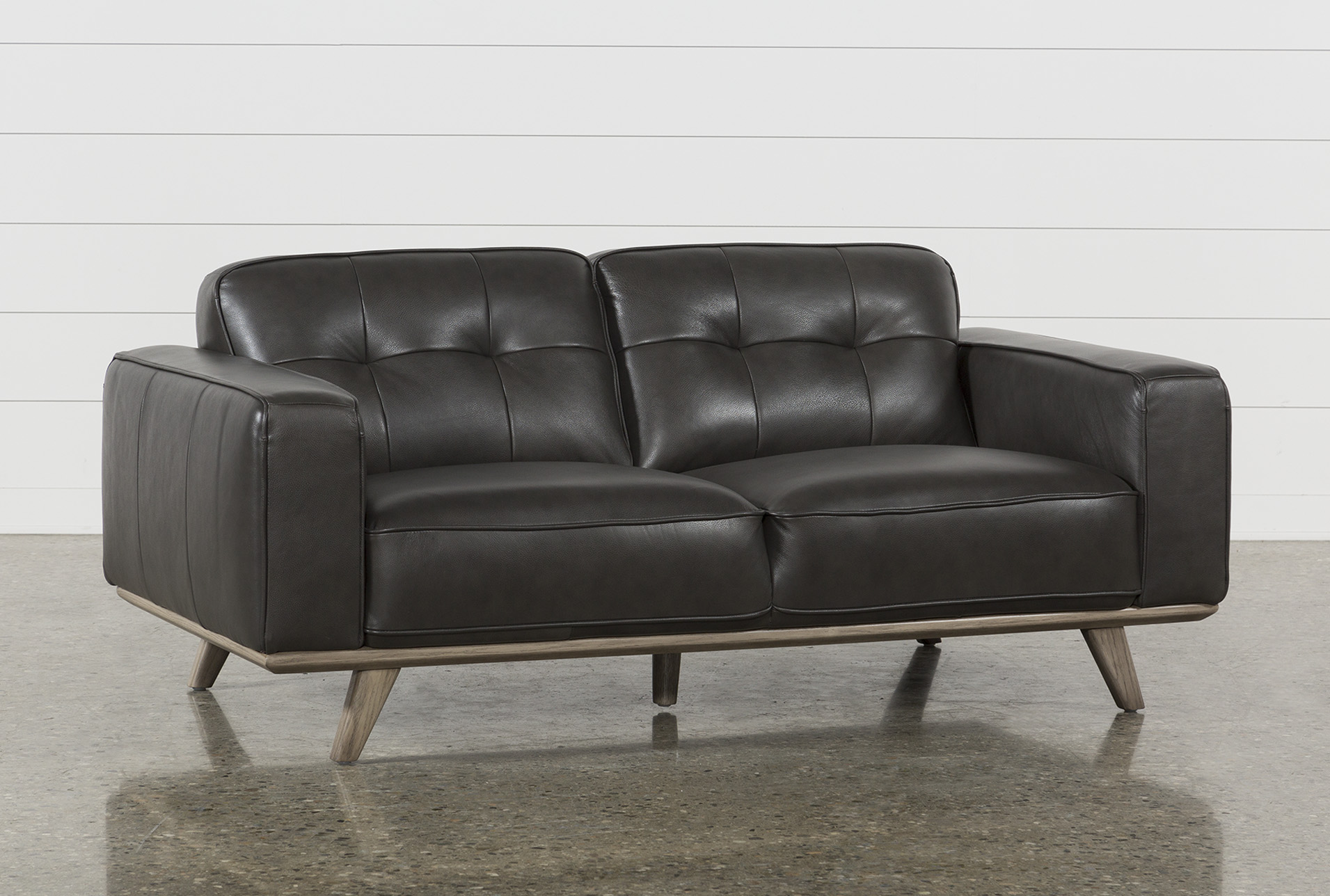 Caressa Leather Dark Grey Loveseat (Qty: 1) has been successfully added to  your Cart.