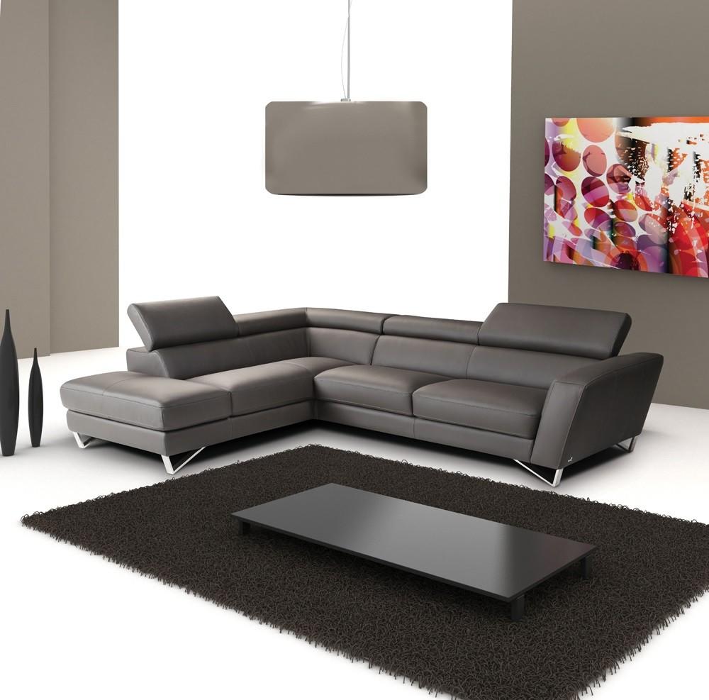 Sparta Leather Sectional, Dark Grey | J&M Furniture, $5,499.00, J & M  Furniture