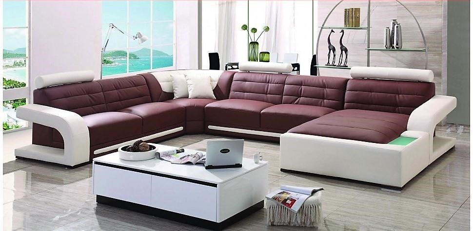 S182 Contemporary Sectional w/LAF Loveseat/RAF Chaise by Titanic Furniture