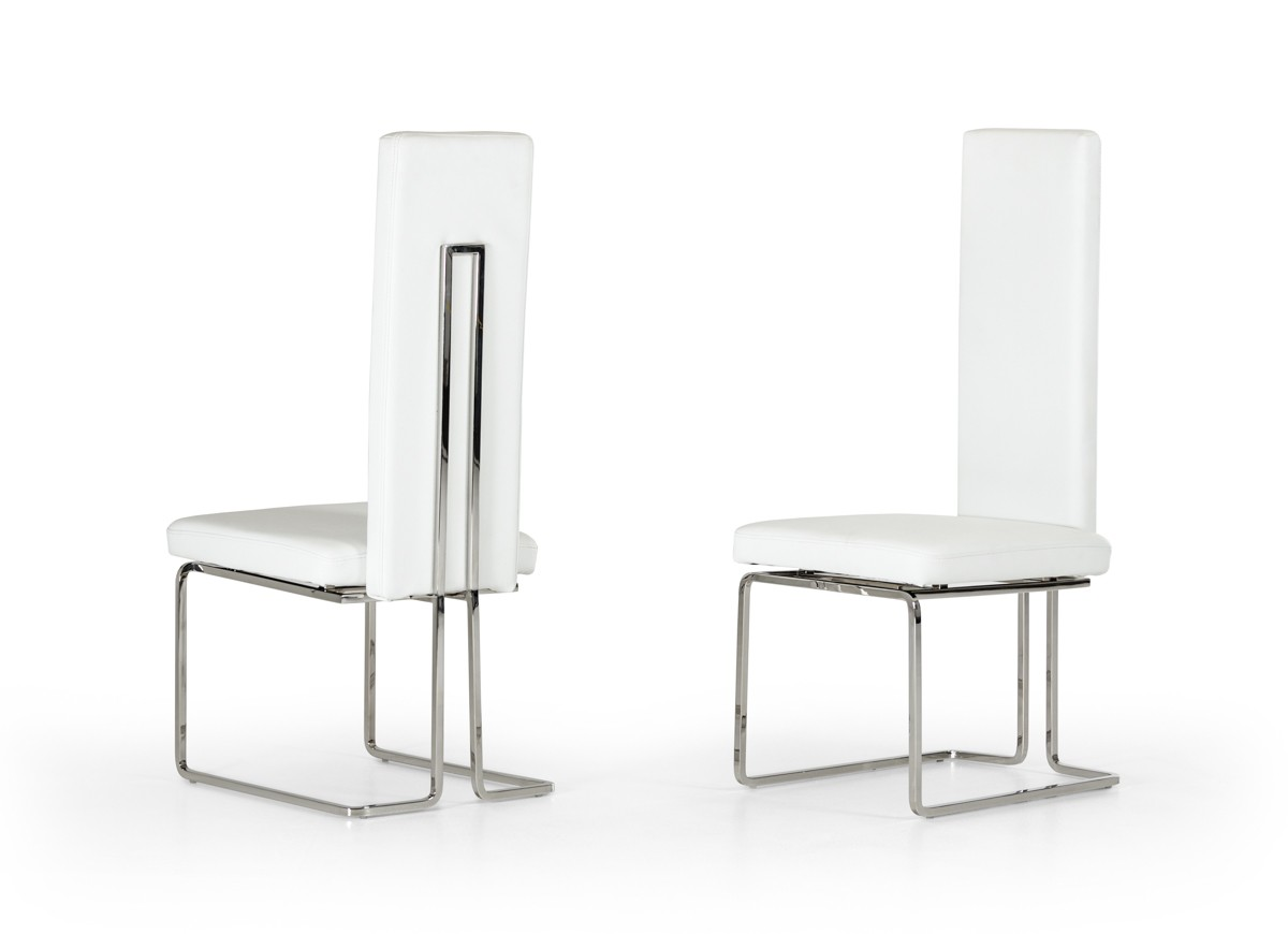 Arcadia - Modern White Dining Chair (Set of 2)