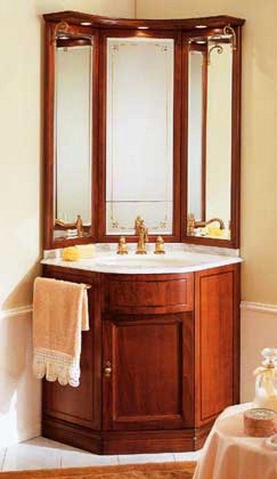corner vanities for small bathrooms | bathroom corner vanity 1