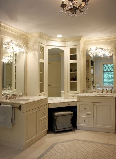 Corner Vanity Traditional Bathroom Sharon Mccormick Design Inside Prepare