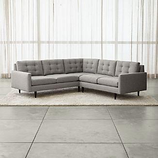 Petrie 2-Piece Corner Midcentury Sectional Sofa