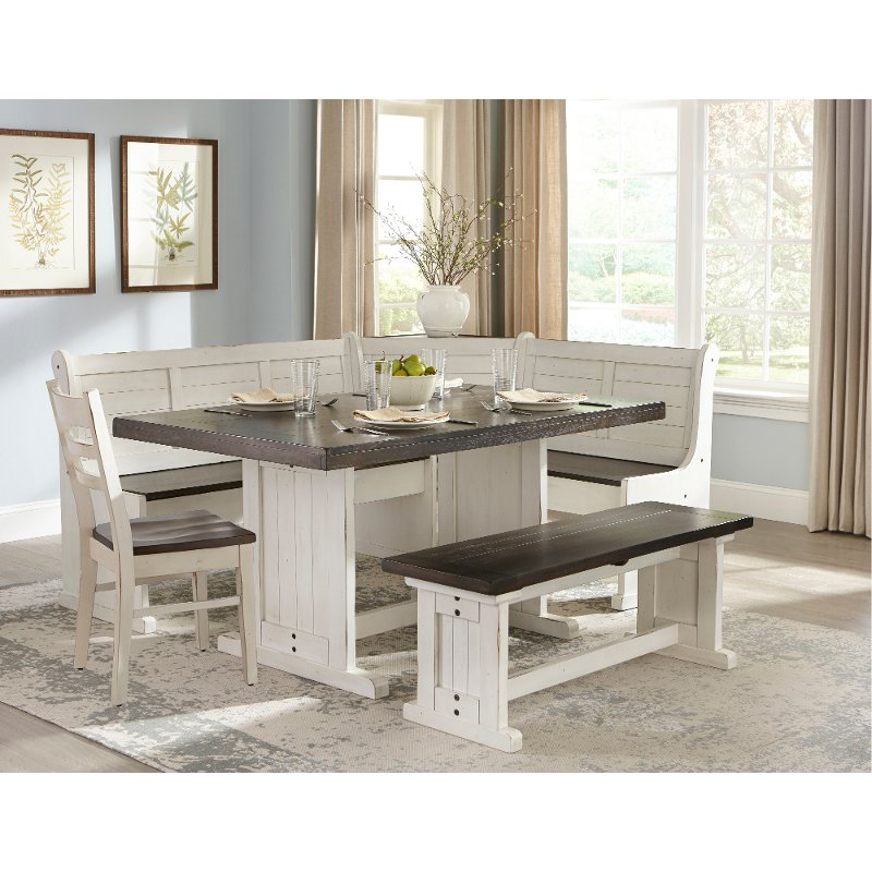 Two-Tone French Country 5 Piece Corner Dining Set - Bourbon County | RC  Willey Furniture Store