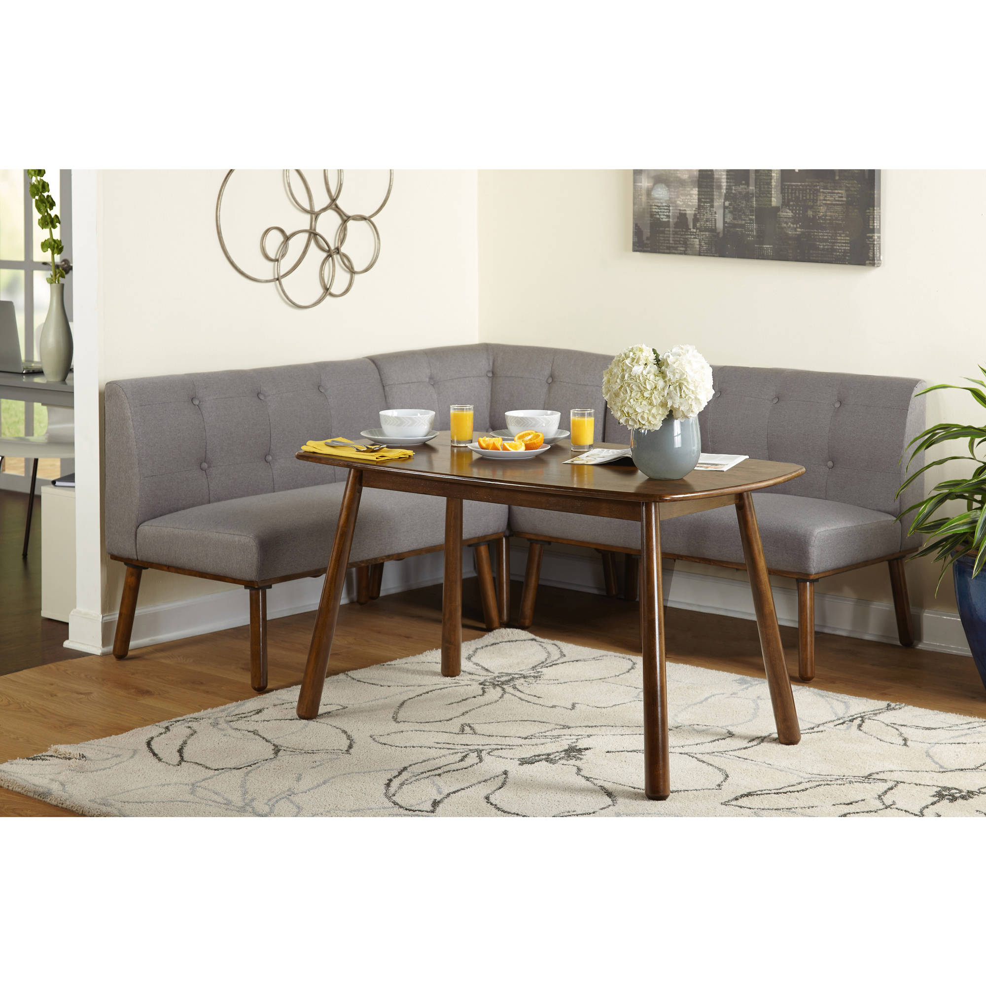 Maxwell Breakfast Nook 4-Piece Corner Dining Set, Multiple Colors -  Traveller Location