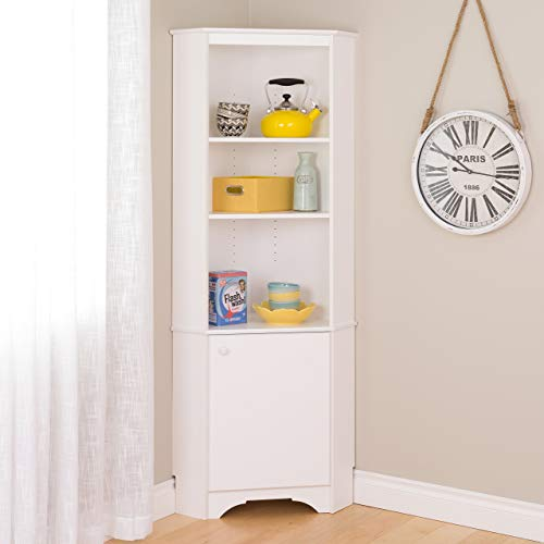 Prepac WSCC-0604-1 Elite Home Corner Storage Cabinet Tall 1-Door,