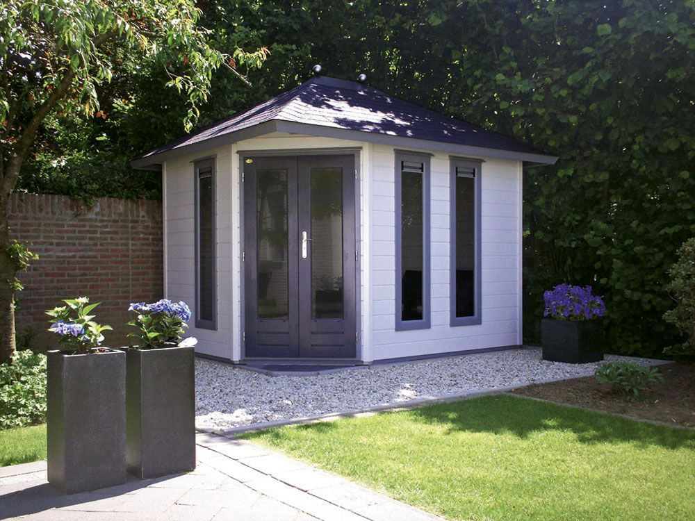 modern garden corner shed - Google Search