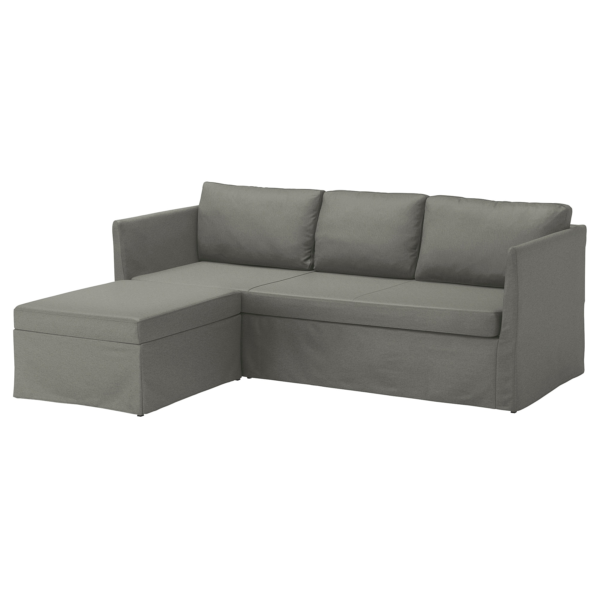 IKEA BRÅTHULT corner sofa-bed You sit comfortably thanks to the resilient  foam and springy