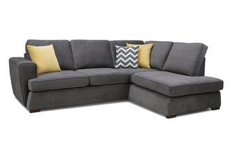 Left Hand Facing Arm Open End Deluxe Sofa Bed Corner Sofa