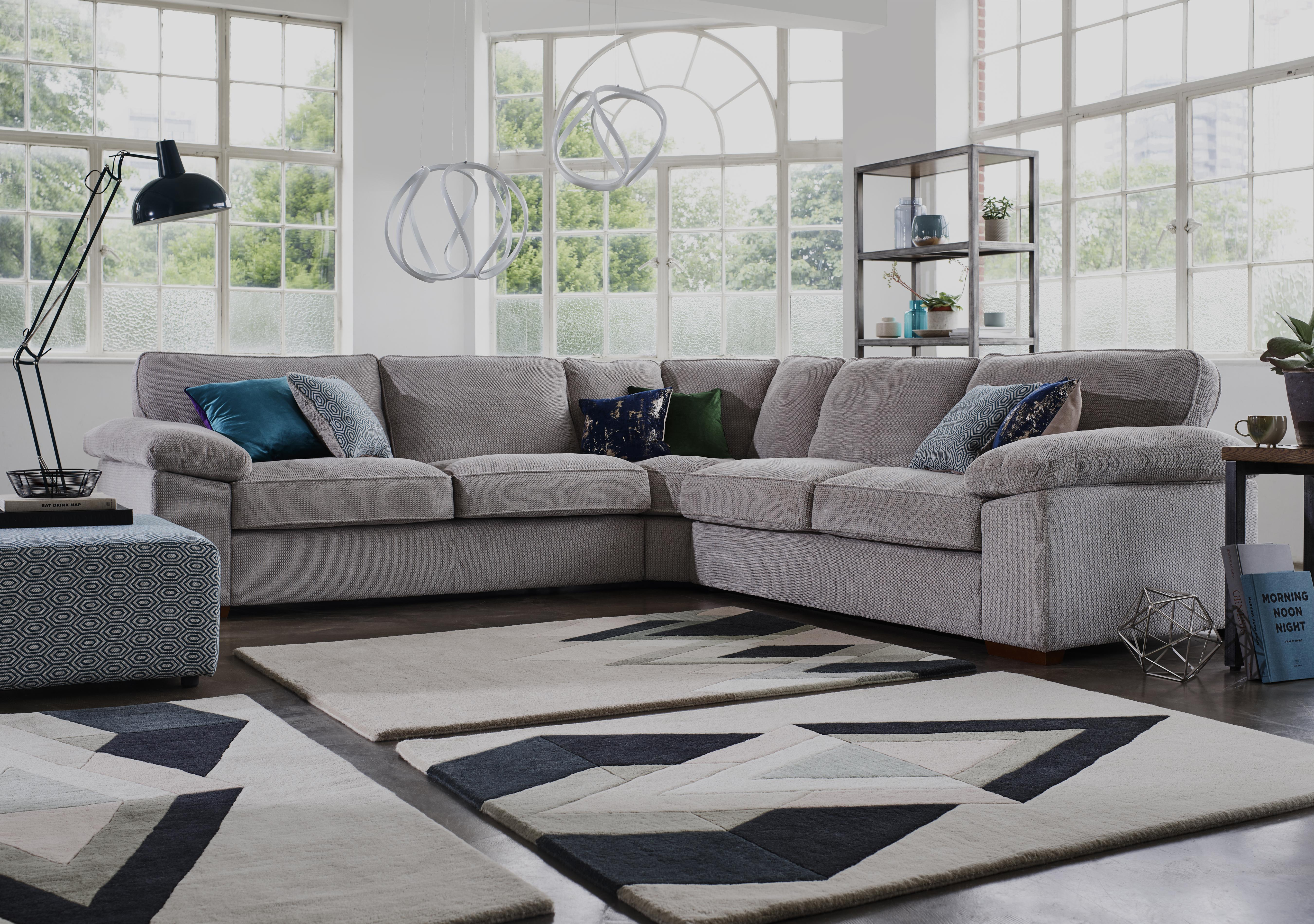 Home Large Fabric Corner Sofa