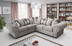 Image is loading New-Baron-Verona-Corner-Sofas-Left-Right-side-