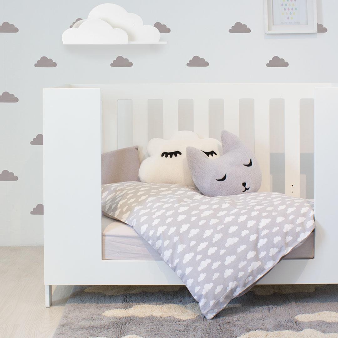 Bunni Grey Cloud Cot Set