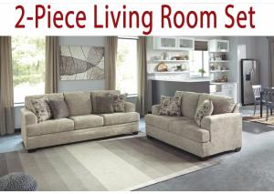 2-Piece Living Room Set: Barr Sisal Sofa & Loveseat