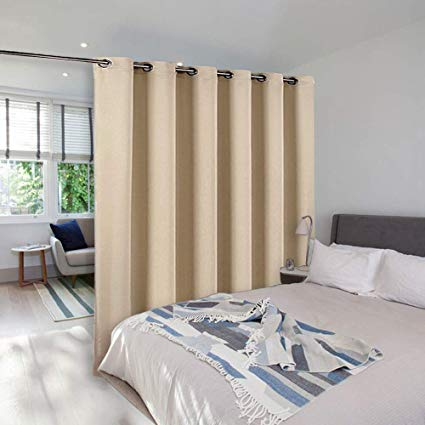 NICETOWN Room Dividers Curtains Screens Partitions, Sliding Glass Door  Curtain, Room Screen Divider Curtain