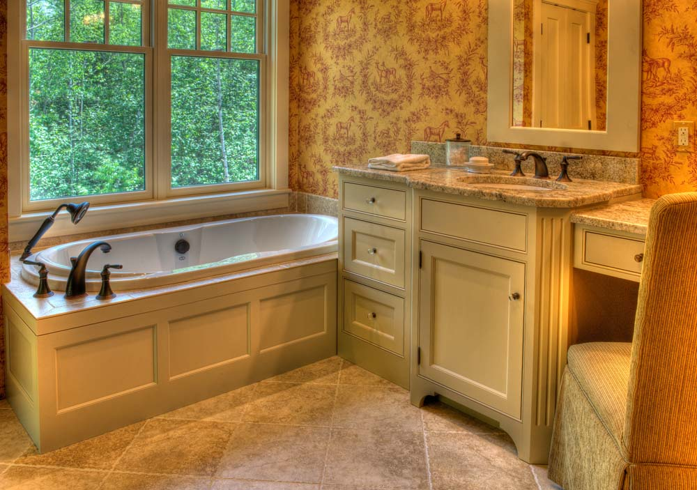 Custom bathroom cabinets. Custom bathroom vanities.