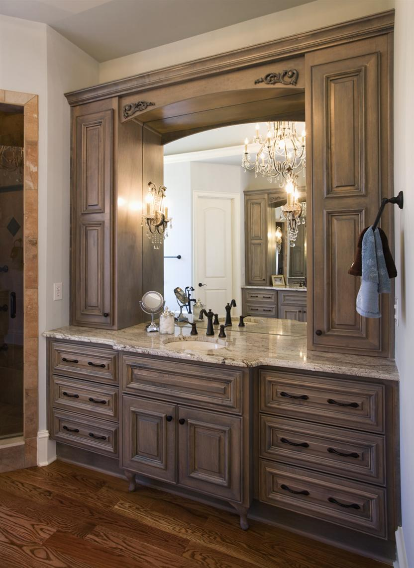 Stunning Custom Bathroom Cabinets on Interior Decor Plan with Eudy39s  Cabinet Manufacturing
