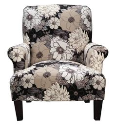 I REALLY WANT some sort of decorative chair for the living room. Floral  Chair,