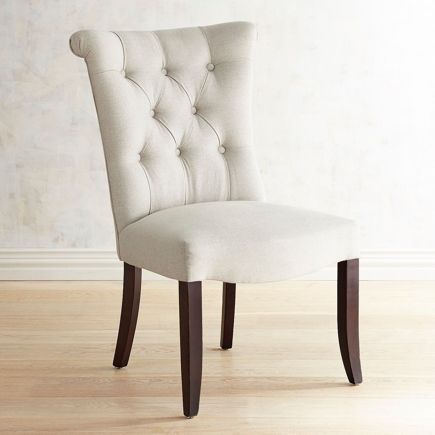 Colette Flax Dining Chair with Espresso Legs