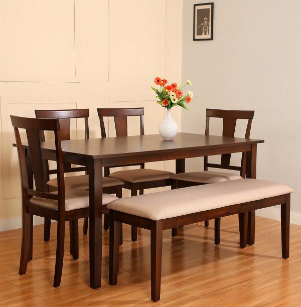Flipkart Perfect Homes Fraser Engineered Wood 6 Seater Dining Set