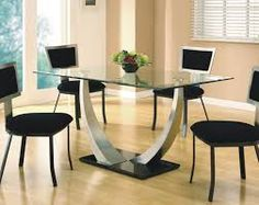 Image result for dining table designs Dinning Table, Unique Dining Tables,  Glass Dining Table