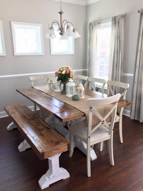 DIY Dining Table and Bench Free Plans - www.Traveller Location