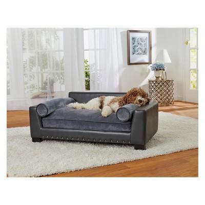 Enchanted Home Pet Skylar Dog Sofa - Dark Grey