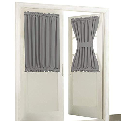 Aquazolax Blackout Rod Pockets Door/Window Curtain Back Door Side Panels  for Privacy 54W x