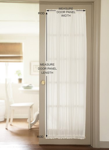 How to Measure: Door Panel Curtains