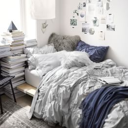 Light Gray Ruched Diamond Bedroom