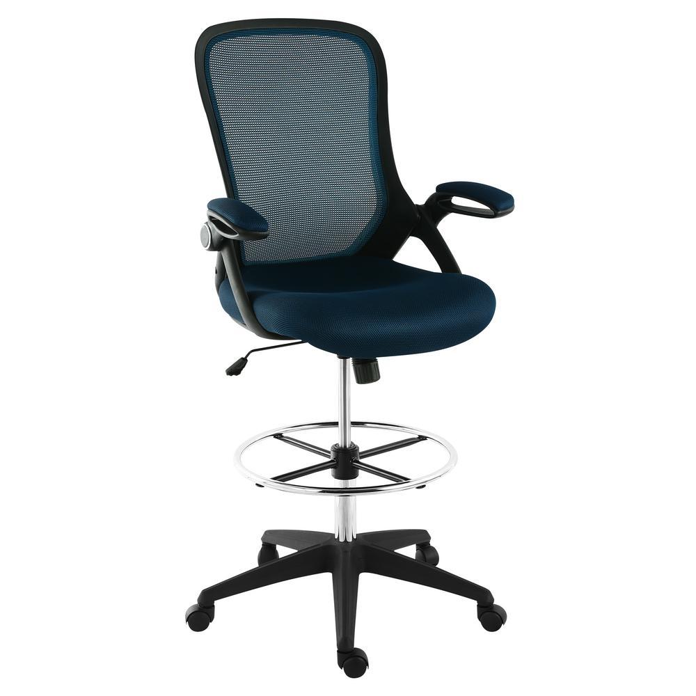 Sadia Blue Mesh Drafting Chair