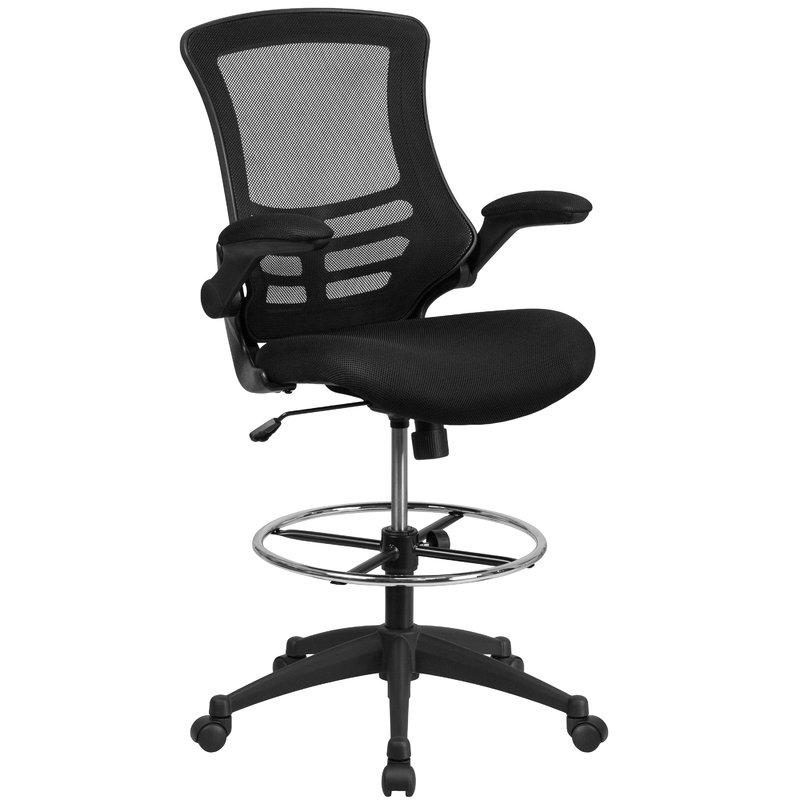 Wrought Studio Archimedes High-Back Mesh Drafting Chair & Reviews | Wayfair