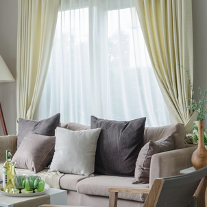 clean curtains and drapes