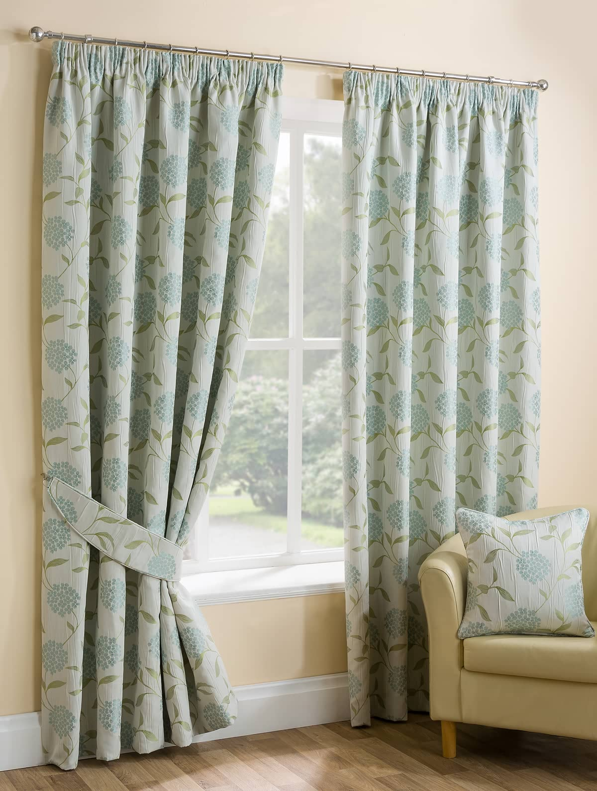 Paloma Duck Egg Ready Made Curtains