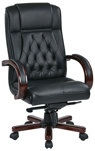 TWN300L Tradittional High Back Executive Leather Office Chair