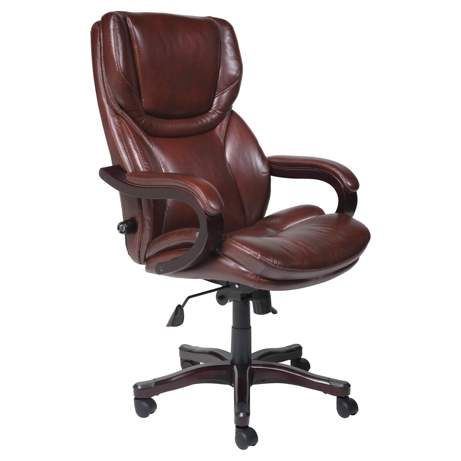 Belleze Executive Reclining Office Chair High Back Faux Leather Footrest  Armchair Recline w/ Backrest Pillow, Black - Traveller Location