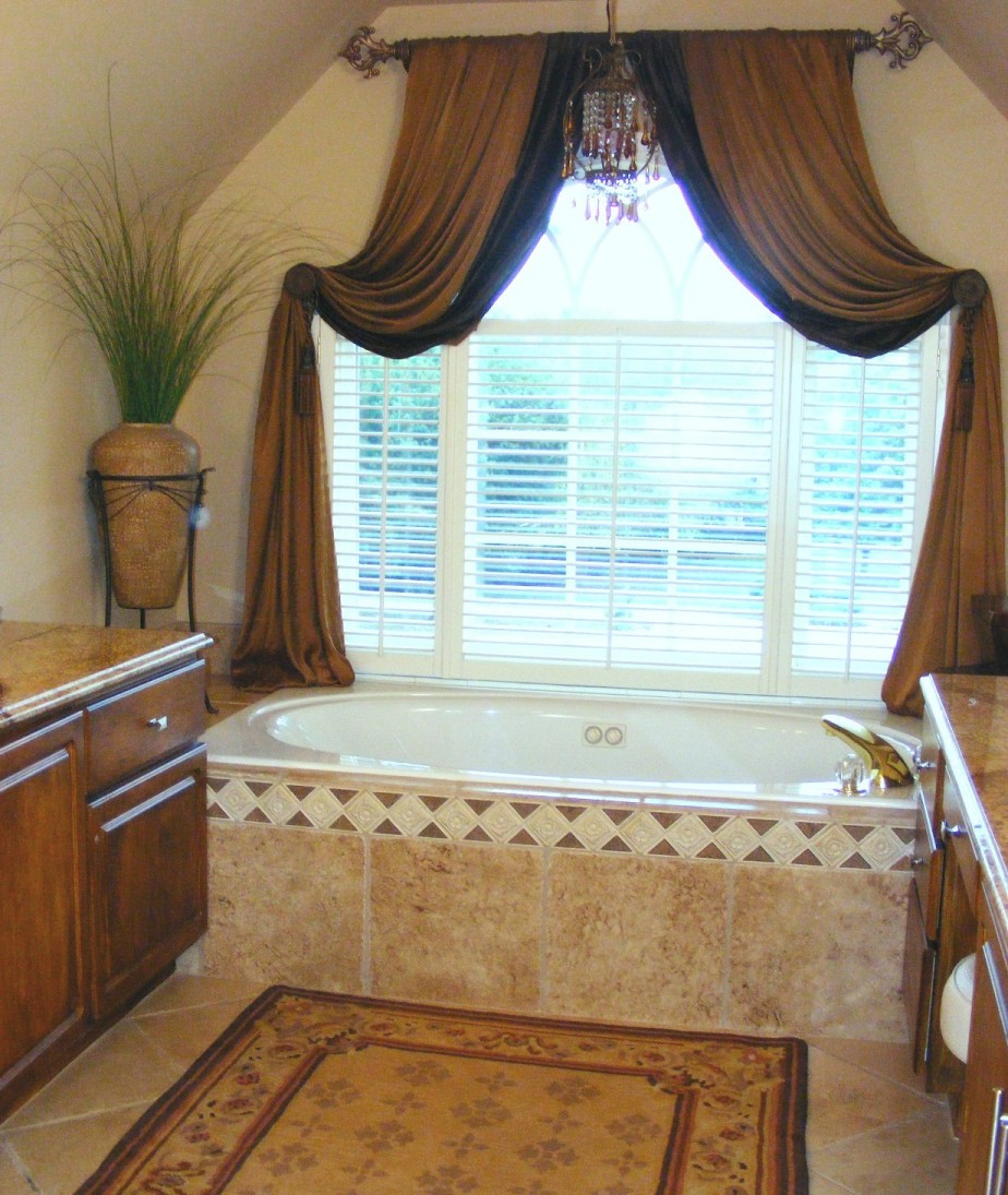 Exquisite Bathroom Window Curtains Design Ideas
