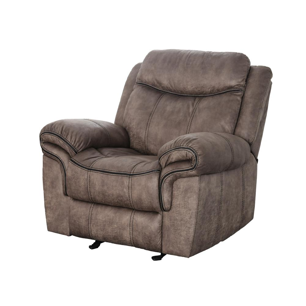 Furniture of America Tanner Brown Fabric Recliner